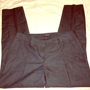 Express pinstriped pants